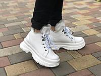 Женские кожаные ботинки Марини 2346 бел размеры 36,37,38,39,40,41, фото 1