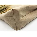 Летняя текстильная сумка. Светло-бежевая, фото 4