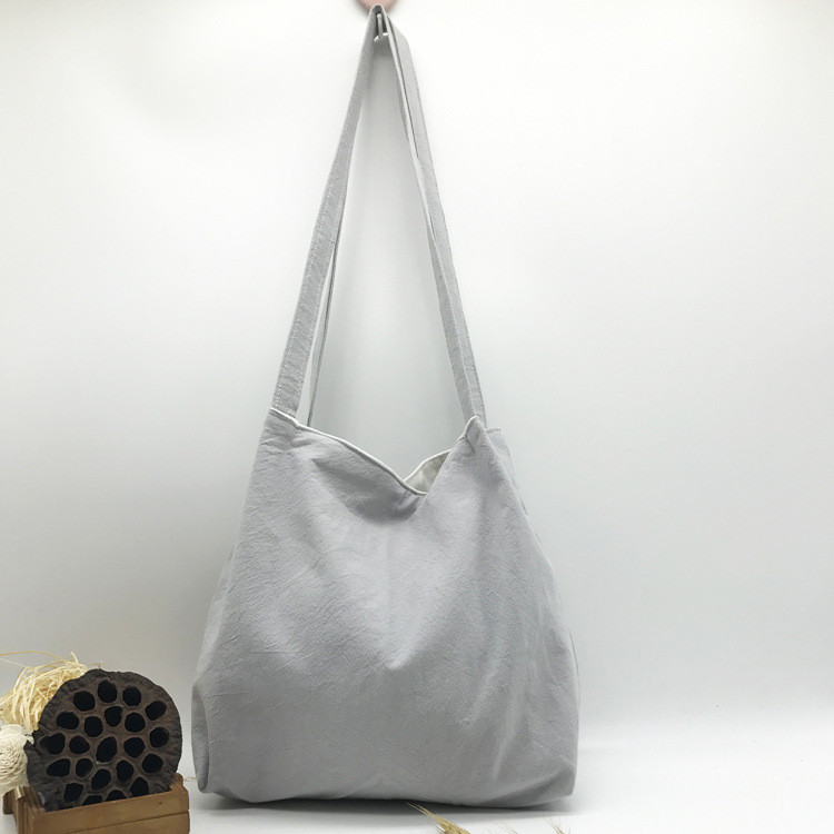 Річна текстильна сумка. Світло-сіра