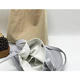 Річна текстильна сумка. Світло-сіра, фото 3