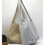 Річна текстильна сумка. Світло-сіра, фото 4
