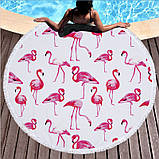 Пляжное полотенце Фламинго из микрофибры, круглое, фото 6