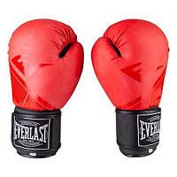 Боксерские перчатки EVERLAST DX матовые 8, Красный, фото 1