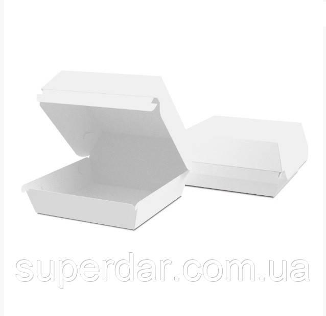 Упаковка 115х115х64 мм для Бургеров Миди белая (ящ.: 1200 шт)