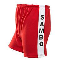 Самбовка Mizuno, куртка+шорты(эластан), красный, рост 140-170см 170, фото 1