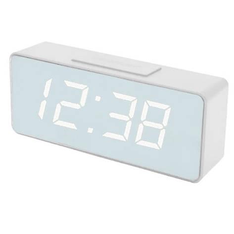 Часы сетевые VST-886Y-6, белые, USB, фото 2