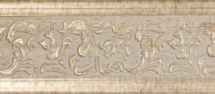 Лента декоративная на карниз, бленда Богемия 342 Медь 70 мм на усиленный потолочный карниз КСМ