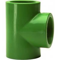 Тройник, PP-R, D = 25 мм, зелений
