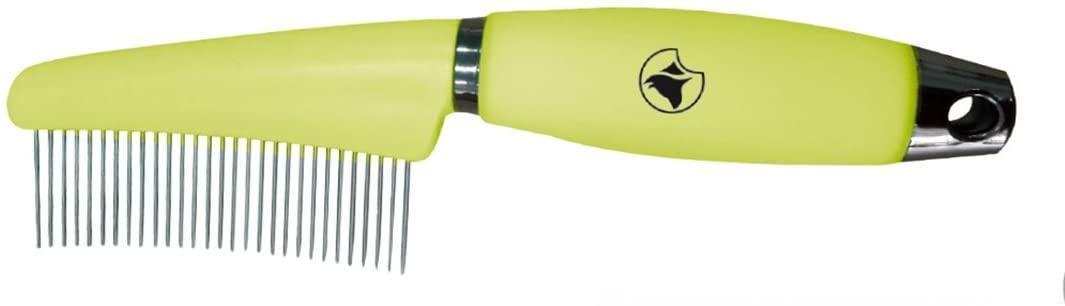 Расческа для длинной шерсти, силиконовая ручка, 7,7*17,3 см