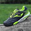 Футзалки, бампы, сороконожки кроссовки для футбола мужские подростковые Joma черные салатовые (код 7750)