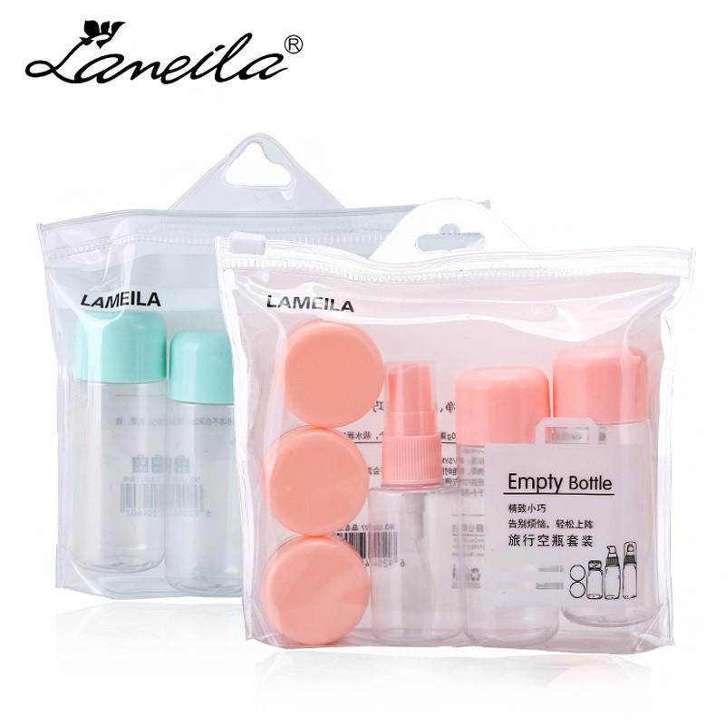 Мини-набор емкостей для путешествий Lameila. Розовый