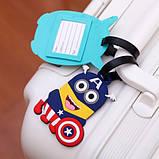 Бирка для чемодана Minions-Капитан Америка, фото 4