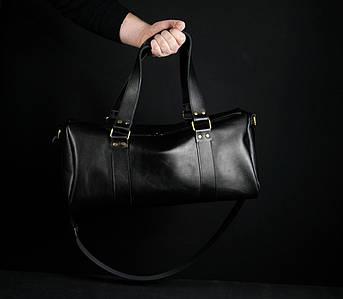 """Сумка Travel """"Модель №80"""", Шкіра Італійський краст, колір Чорний"""