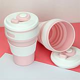 Складная силиконовая чашка Collapsible. Розовая, фото 6