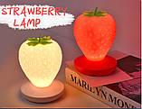 Силиконовый LED светильник-ночник Клубника. Красный, фото 3