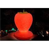 Силиконовый LED светильник-ночник Клубника. Красный, фото 7