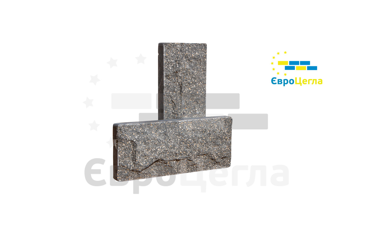 Цокольна плитка рваний камінь, розмір 250х105х20мм
