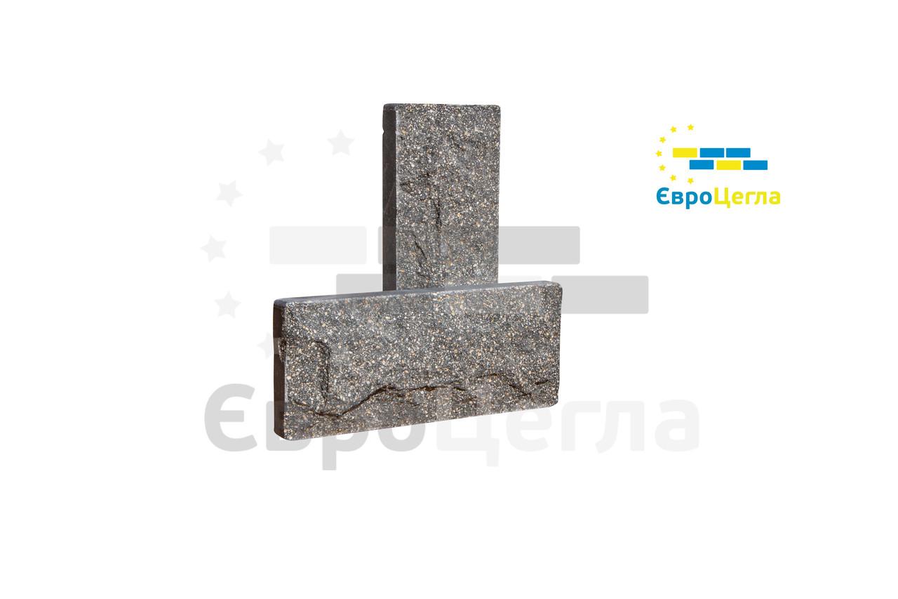 Цокольная плитка рваный камень, размер 250х105х20мм