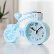 Настольные часы-будильник Велосипед. Светло-голубой