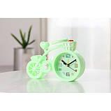 Настольные часы-будильник Велосипед. Светло-зеленый, фото 4