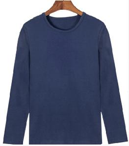 Мужская футболка с длинным рукавом Doomilai Стрейч (синяя) Арт.1913