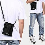 Дорожный кошелек на шею YIPINU. Синий/Черный, фото 5