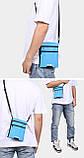 Дорожный кошелек на шею YIPINU. Синий/Черный, фото 6