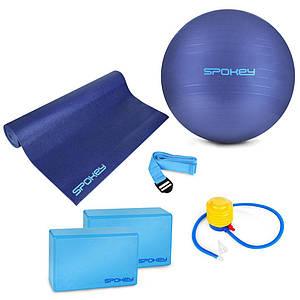 Набор для йоги Spokey Asteya 928925 (original) фитбол, коврик для йоги, блоки для йоги, ремень для йоги