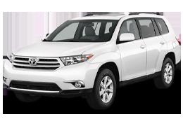 Коврик в багажник для Toyota (Тойота) Highlander 2 2007-2013
