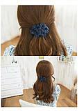 Заколка для волос с цветами Blue flowers, фото 2