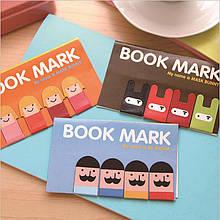 Магнитные закладки для книг Book Mark 4 шт./комп.