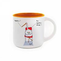 Чашка с Гусем Чайку? Оранжевая #I/F