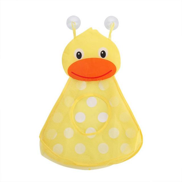 Органайзер в ванную для игрушек на присосках Утенок