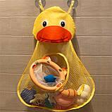 Органайзер в ванную для игрушек на присосках Утенок, фото 4