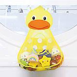 Органайзер в ванную для игрушек на присосках Утенок, фото 5