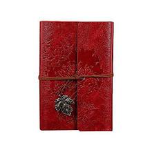 Винтажный блокнот Древо жизни. Темно-красный