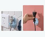 Держатель для проводов, вилок электроприборов на стену 2 шт./наб., фото 4