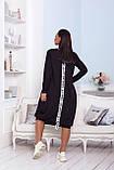 Женское платье свободного кроя Турецкая двунитка, фото 4