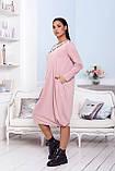 Женское платье свободного кроя Турецкая двунитка, фото 7