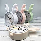 Детские настольные часы-будильник Олененок. Светло-розовый, фото 2