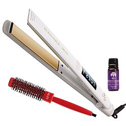 Утюжок для волос Ga.Ma Elegance Digital Argan GPK0220 ультратонкий дизайн + брашинг + аргановое масло