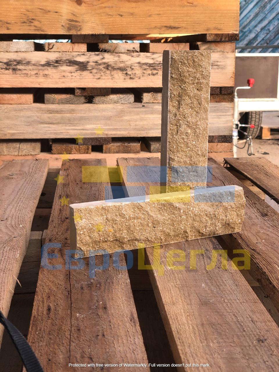Фасадная плитка под камень, размер 250Х20Х65мм