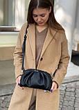 Женская кожаная сумка облако polina&eiterou черная, фото 4