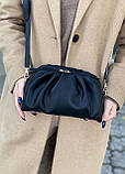 Женская кожаная сумка облако polina&eiterou черная, фото 5