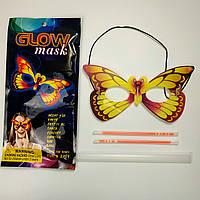 Неоновая маска Бабочка Glow Mask