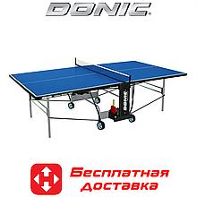 Теннисный стол для помещений Donic Indoor Roller 800, синий