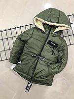 Зимняя курточка на овчине для мальчика (на рост 116 см), фото 1