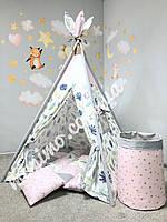 Вигвам для ребенка «Сказочный Цветок» палатка каркас коврик подушка