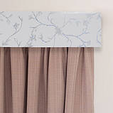 Лента декоративная на карниз, бленда Сакура 351 Серебро 70 мм на усиленный потолочный карниз КСМ, фото 7