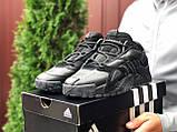 Adidas Performance мужские демисезонные черные  кроссовки на шнурках, фото 2